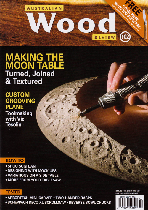 Terry Martin and Zina Burloiu - Moon Table - The Cover of Australian Wood Review