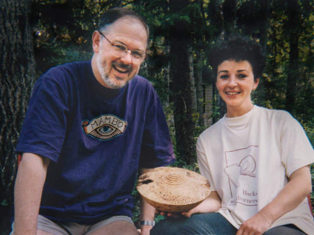 Zina and Terry in Canada, 1998